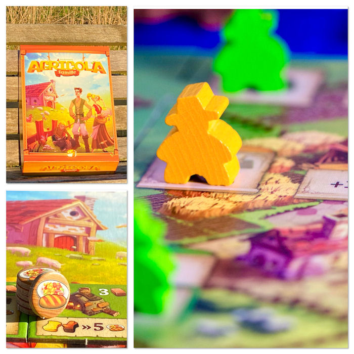 [AVIS EXPRESS] Agricola famille, Meeple Land, Rajas of the Ganges roll and write et Mariposas!!!