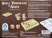 Boite de jeu de ROLL THROUGH THE AGES : The bronze age  (QWG/Fred Dist./ Iello)