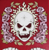 Skull and roses RED (Lui-Même)