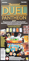 Verso de la boite de 7 WONDERS DUEL PANTHEON (Repos Production)