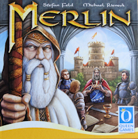 Recto de la boite de MERLIN (Queen Games)