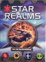 Recto de la boite de STAR REALMS (Iello)